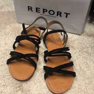 Brand new never worn Report sandals
